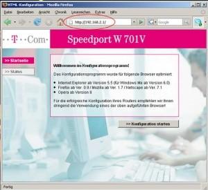 Netzwerkschlüssel ermitteln - Router IP