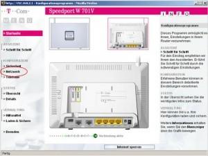 Netzwerkschlüssel - Router Startseite