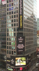 IBM and Apple Pic on Jumbotron NYC