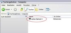 Computer m Netzwerk finden