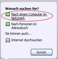 Computer im Netzwerk suchen