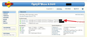 Ip Adresse aus Fritzbox auslesen