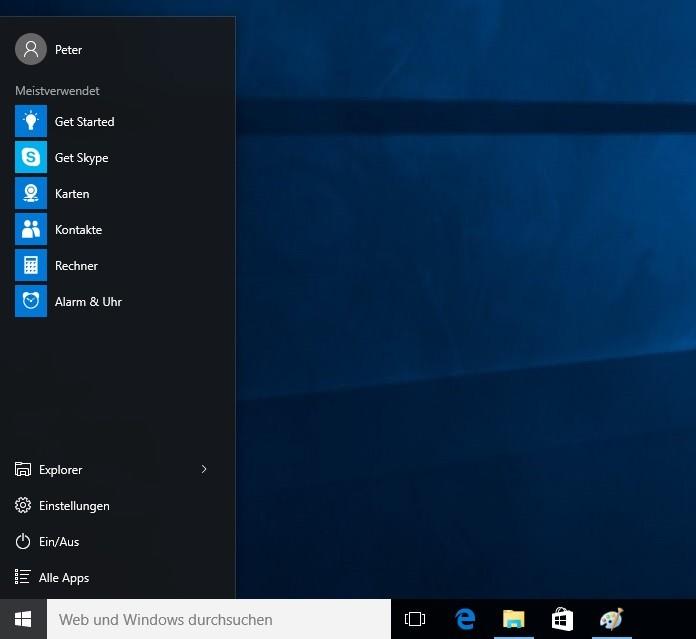 Windows 10 Kacheln im Startmenü entfernen
